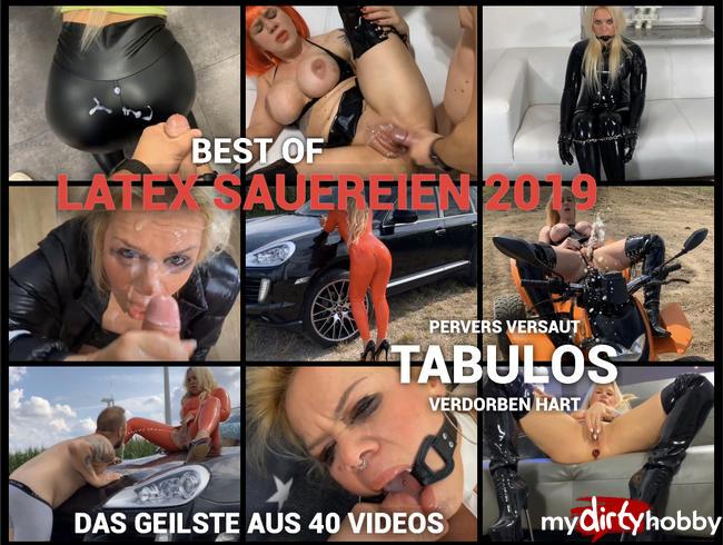 devil-sophie - Best of Latex Sauereien 2019 - pervers versaut tabulos verdorben und hart das geilste aus 40 Videos