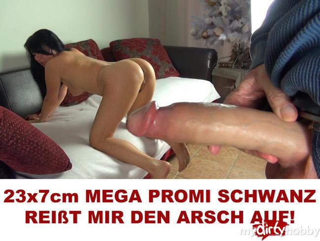Video Thumbnail 23x7cm Mega Promi Schwanz reißt mir den Arsch auf!