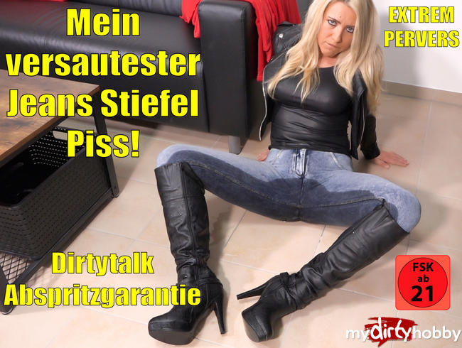 Video Thumbnail Mein perversester Jeans-Stiefel-Piss | 100% Dirtytalk Abspritzgarantie!