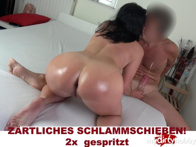 Video Thumbnail Zärtliches Creampie Schlammschiebe-Treffen. 2x gespritzt.
