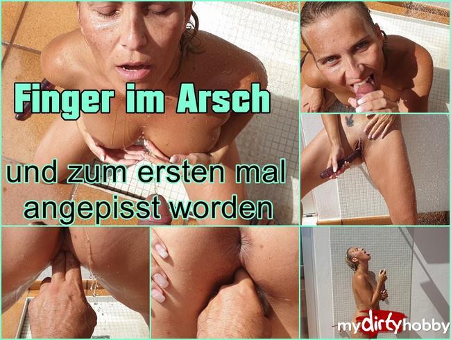 Video Thumbnail Finger im Arsch und angepisst