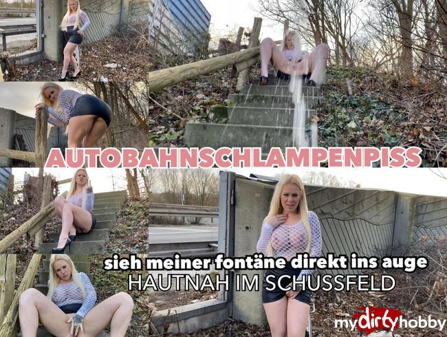 Video Thumbnail Autobahnschlampenpiss - sieh meiner Fontäne direkt ins Auge - hautnah im Schussfeld