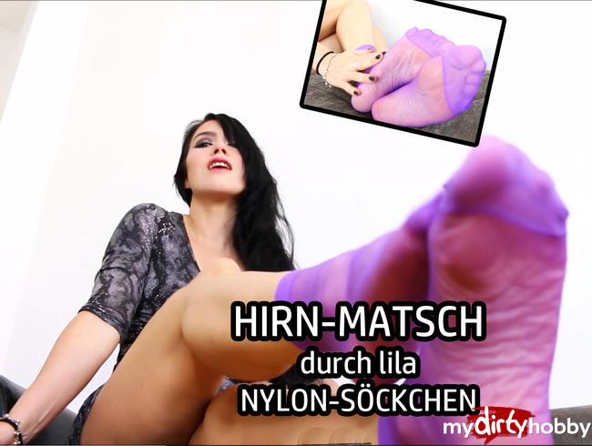 Video Thumbnail HIRN-MATSCH durch lila NYLON-SÖCKCHEN