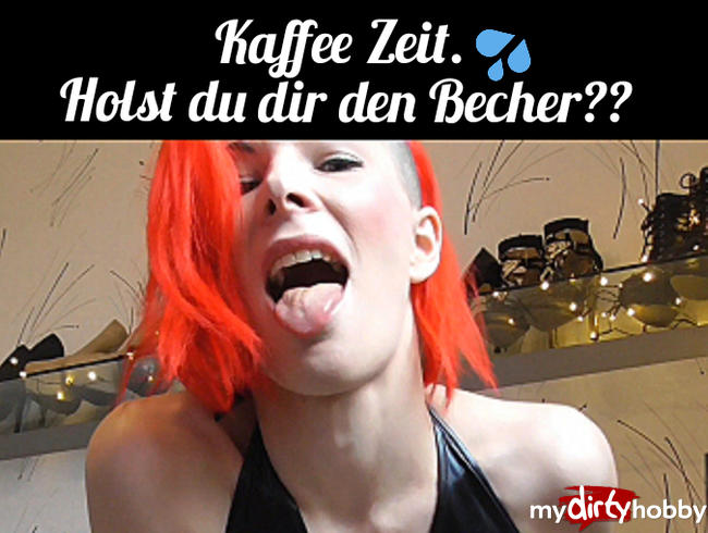 Video Thumbnail Kaffee Zeit. Holst du dir den Becher ??