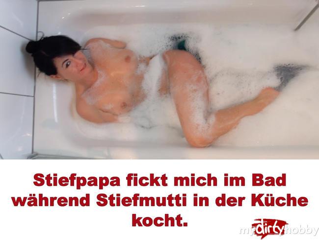 Video Thumbnail Stiefpapa fickt mich im Bad während Stiefmutti in der Küche kocht.