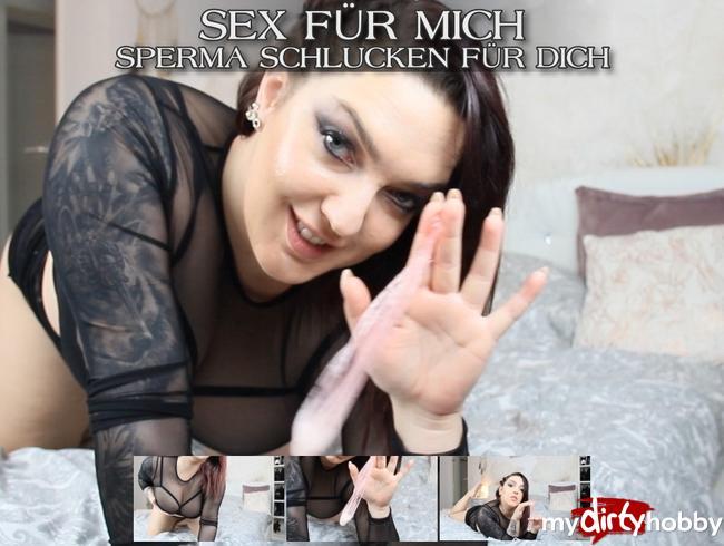 Video Thumbnail Sex für mich, Sperma schlucken für dich