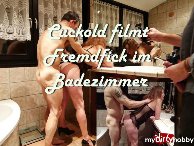 Video Thumbnail Cuckold filmt Fremdfick im Badezimmer