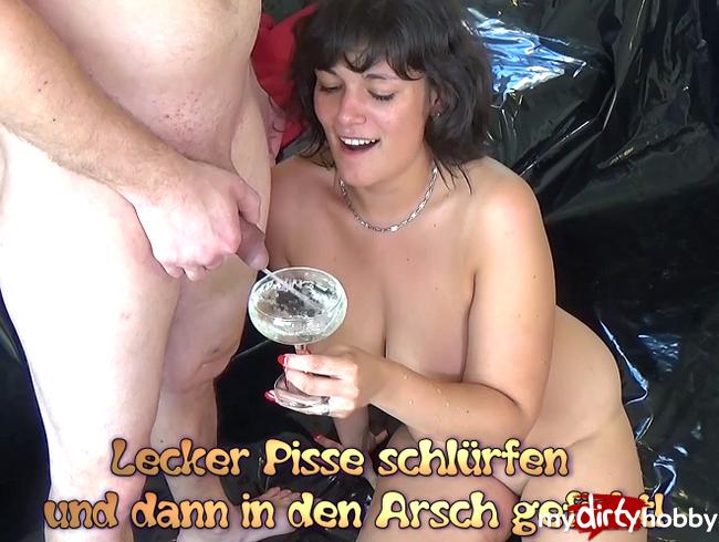 Video Thumbnail Lecker Pisse schlürfen und dann in den Arsch gefickt!