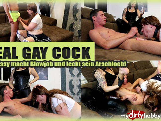 Video Thumbnail REAL GAY COCK! TeenySissy macht Blowjob und Rimming!