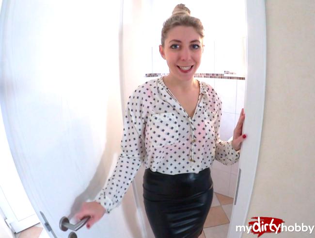 Video Thumbnail Mit SPERMA-NYLONS in der ARBEIT - FICK-AFFÄRE spritzt mir auf der BÜROTOILETTE AO in die FOTZE