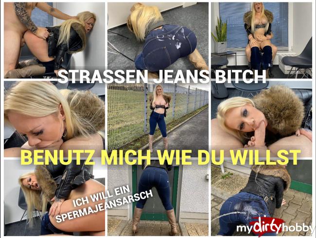 Video Thumbnail Straßen Jeans Bitch - Benutz mich wie du willst - ich will ein Spermajeansarsch