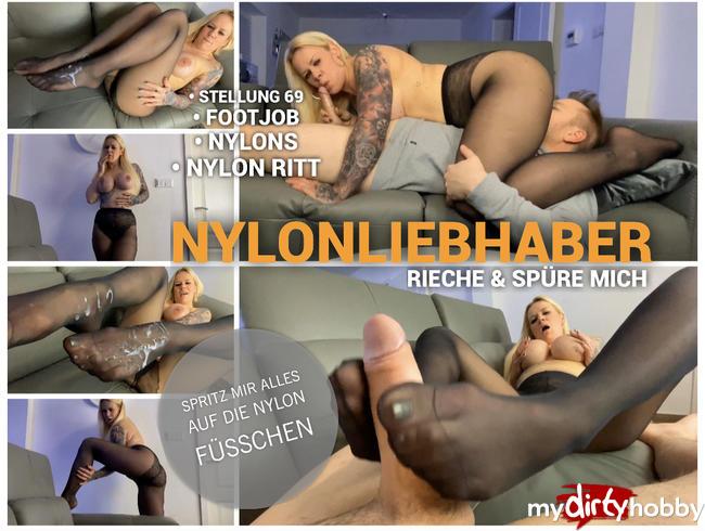 Video Thumbnail Nylonliebhaber - Riech und spüre mich - spritz mir alles auf die Nylon Füßchen