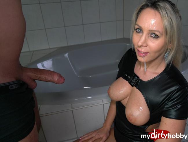AnnabelMassina - XL Spermabombe ins Fickgesicht, Titten und im Mund