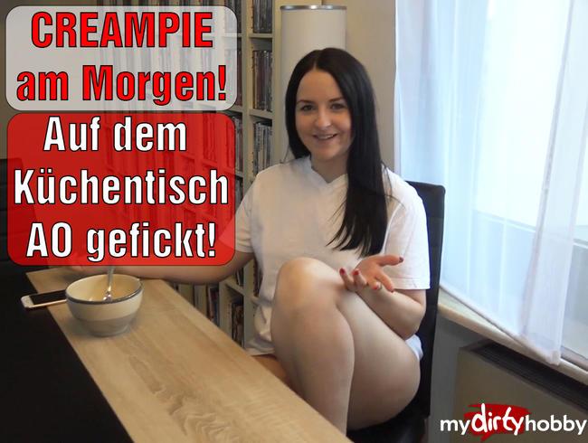 Video Thumbnail CREAMPIE am Morgen! Auf dem Küchentisch AO gefickt!