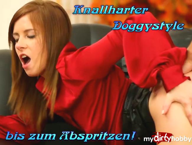 Video Thumbnail Knallharter Doggystyle bis zum Abspritzen!