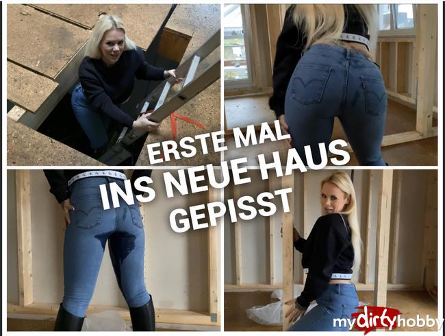 Video Thumbnail Erstes Mal ins neue Haus gepisst - praller Jeansarsch lässt laufen