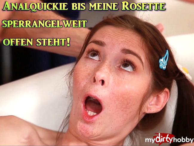 Video Thumbnail Analquickie bis meine Rosette sperrangelweit offen steht!