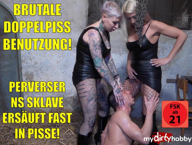 Video Thumbnail Brutale Doppelpiss Benutzung | In 5 Liter Pisse fast ersoffen! UNFASSBARE Ladungen!