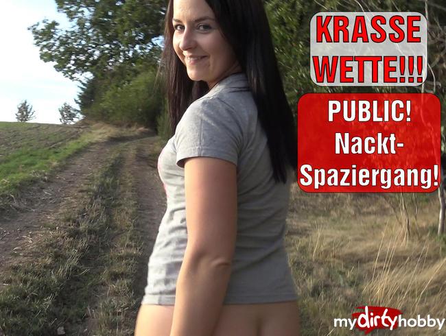 Video Thumbnail KRASSE WETTE!!! PUBLIC Nackt-Spaziergang!