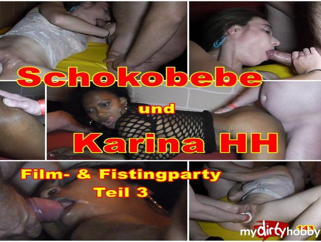 Video Thumbnail Fick- und Fistingparty mit KarinaHH und Schokobebe Teil 3