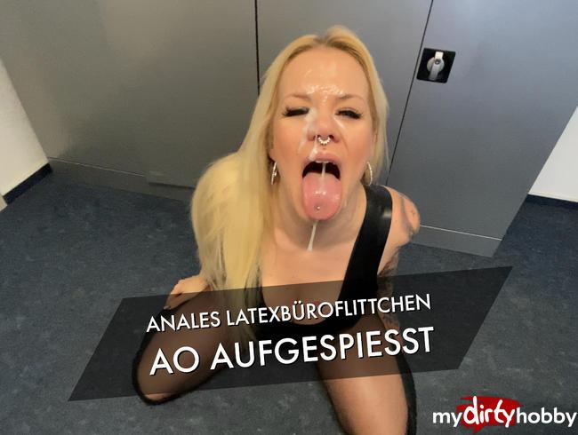 Video Thumbnail Anales Latexbüroflittchen AO aufgespiesst bis das Sperma schießt