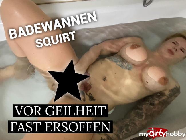 Video Thumbnail Vor Geilheit fast ersoffen - der Badewannen squirt
