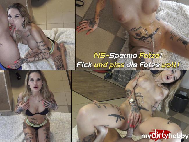 Video Thumbnail NS-Sperma Fotze! Fick und piss die Fotze voll!
