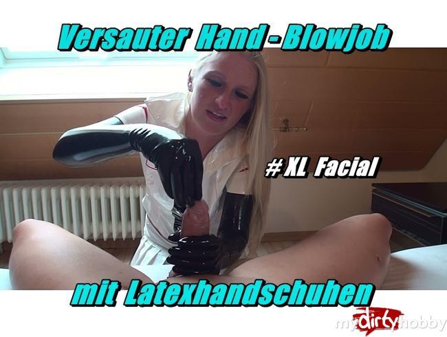 Video Thumbnail Versauter Hand-Blowjob mit Latexhandschuhen