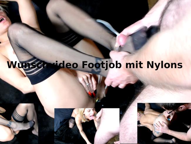Video Thumbnail Wunschvideo Footjob mit Nylons