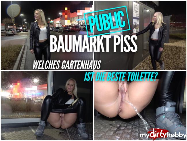 Lara-CumKitten - Public Baumarkt PISS | Welches Gartenhaus ist die beste Toilette?