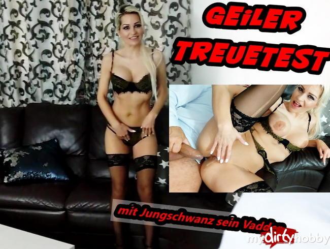 Video Thumbnail Geiler Treuetest! Mit Jungschwanz sein Vadder fremdgefickt!!!