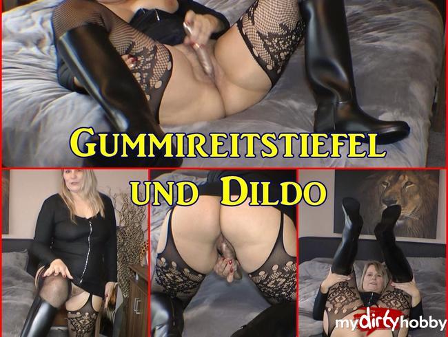 Video Thumbnail Gummireitstiefel und Dildo