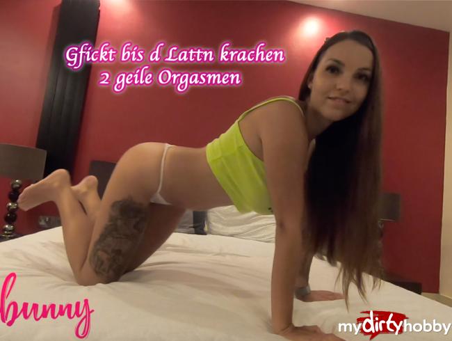 Video Thumbnail Gfickt bis d Lattn krachen - 2 geile Orgasmen