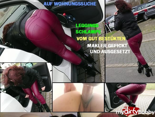 Video Thumbnail AUF WOHNUNGSSUCHE - LEGGINGS SCHLAMPE vom gut bestückten Makler gefickt, vollgewixt und ausgesetzt
