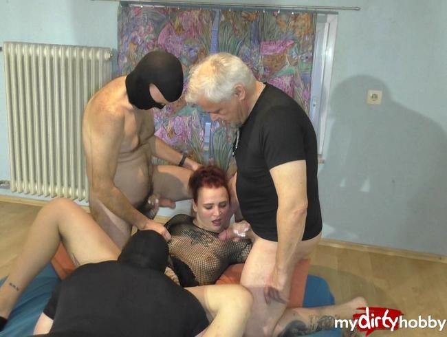 Video Thumbnail Porno- Fickparty mit Benny Bang und einen Freunden