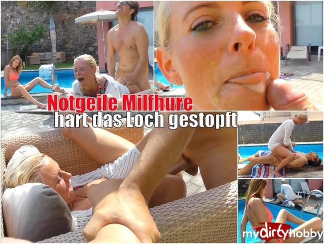 Video Thumbnail NOTGEILER MILFHURE - HART DAS LOCH GESTOPFT!!!