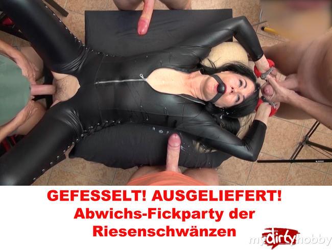 Video Thumbnail GEFESSELT! AUSGELIEFERT! Abwichs-Fickparty der Riesenschwänzen!