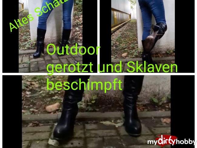 Video Thumbnail Userwunsch! Ebenfalls ein altes Schätzchen! Outdoor rotzen,Sklaven beschimpfen!