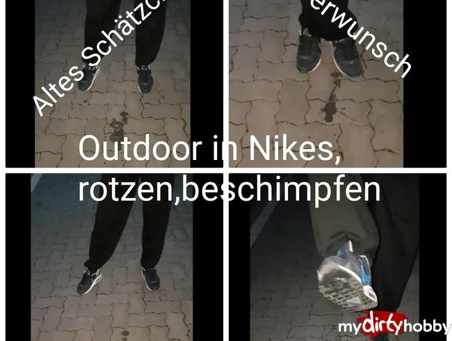 Video Thumbnail Userwunsch! Outdoor in Nikes,rotzen,beschimpfen