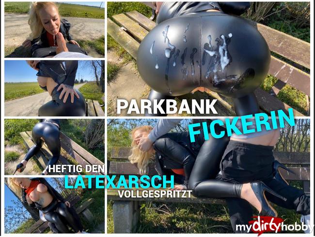 Video Thumbnail Parkbank Fickerin - heftig den Latexarsch vollgespritz - ich brauch es hier und jetzt !