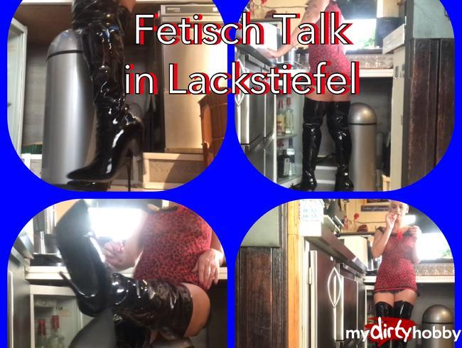 Video Thumbnail Fetisch Talk- Bardame in Lack Overkneestiefel
