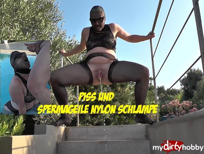 Video Thumbnail Piss und Spermageile Nylon Schlampe