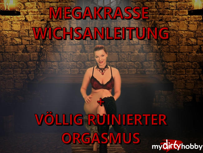 Video Thumbnail MEGAKRASSE WICHSANLEITUNG + Völlig ruinierter Orgasmus