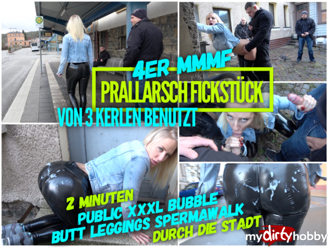 Video Thumbnail XXXL SPERMAWALK | Bubble Butt Leggings Bitch von 3 Typen benutzt | 4ER MMMF