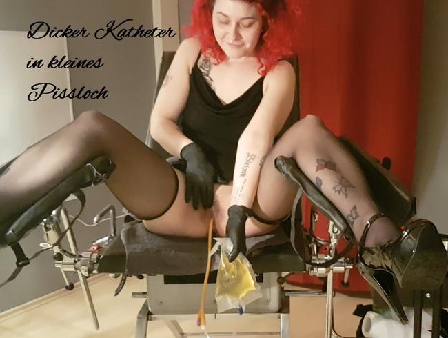 Video Thumbnail Dicker Katheter in kleines Pissloch