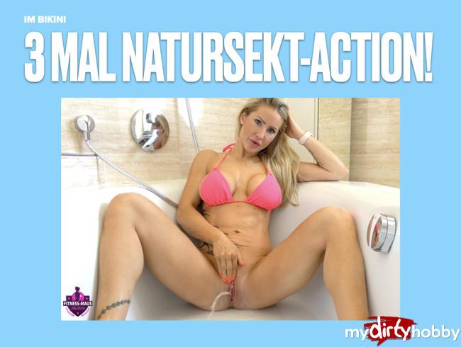 Video Thumbnail 3 MAL NATURSEKT!! Action im Bikini
