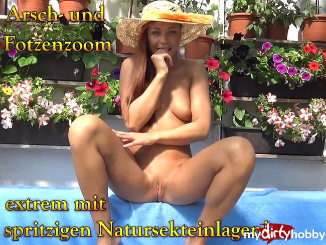 Video Thumbnail Arsch- und Fotzenzoom extrem mit spritzigen Natursekteinlagen!