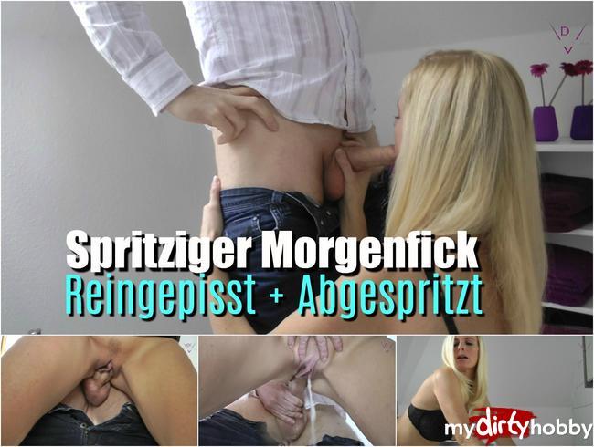 Video Thumbnail Spritziger Morgenfick – Reingepisst und Angespritzt!