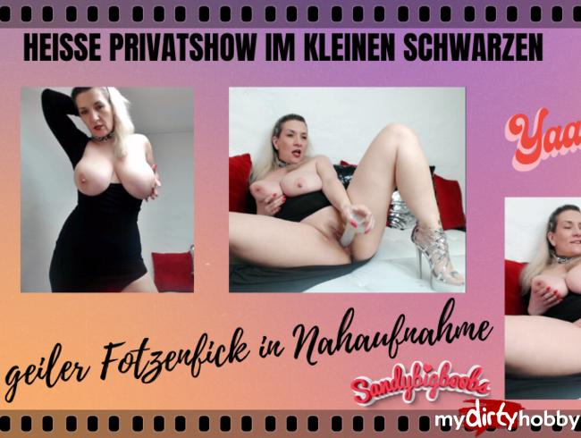 Video Thumbnail heiße Privatshow im kleinen Schwarzen geiler Fotzenfick in Nahaufnahme