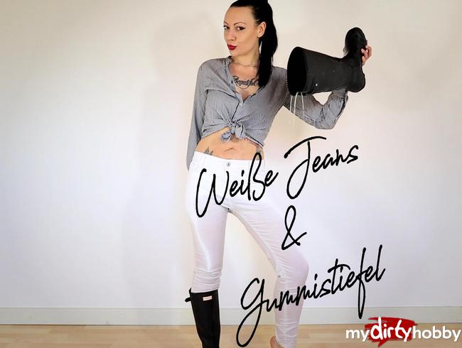 Video Thumbnail Weiße Jeans & Gummistiefel